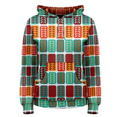 Bricks Abstract Seamless Pattern Women s Pullover Hoodie