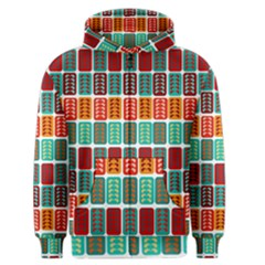Bricks Abstract Seamless Pattern Men s Zipper Hoodie