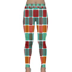 Bricks Abstract Seamless Pattern Classic Yoga Leggings