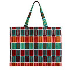 Bricks Abstract Seamless Pattern Zipper Mini Tote Bag