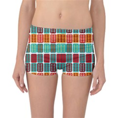 Bricks Abstract Seamless Pattern Reversible Bikini Bottoms