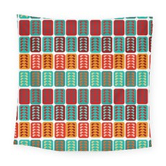 Bricks Abstract Seamless Pattern Square Tapestry (large)
