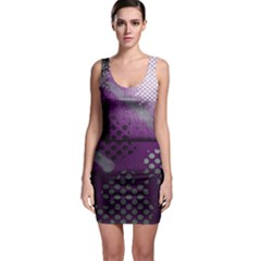 Evil Moon Dark Background With An Abstract Moonlit Landscape Sleeveless Bodycon Dress