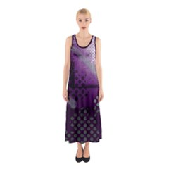 Evil Moon Dark Background With An Abstract Moonlit Landscape Sleeveless Maxi Dress
