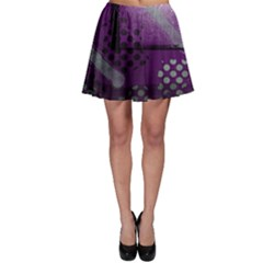 Evil Moon Dark Background With An Abstract Moonlit Landscape Skater Skirt