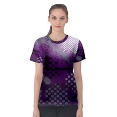 Evil Moon Dark Background With An Abstract Moonlit Landscape Women s Sport Mesh Tee