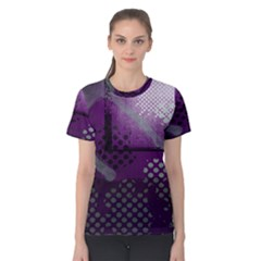 Evil Moon Dark Background With An Abstract Moonlit Landscape Women s Cotton Tee