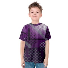 Evil Moon Dark Background With An Abstract Moonlit Landscape Kids  Cotton Tee