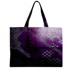 Evil Moon Dark Background With An Abstract Moonlit Landscape Mini Tote Bag
