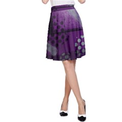 Evil Moon Dark Background With An Abstract Moonlit Landscape A-Line Skirt