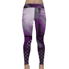 Evil Moon Dark Background With An Abstract Moonlit Landscape Classic Yoga Leggings