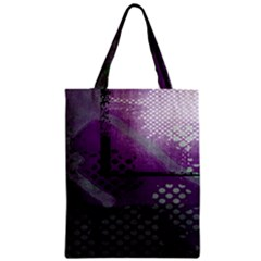 Evil Moon Dark Background With An Abstract Moonlit Landscape Zipper Classic Tote Bag