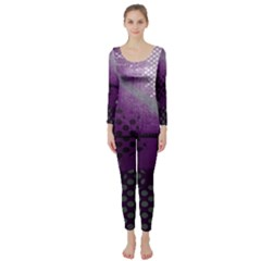 Evil Moon Dark Background With An Abstract Moonlit Landscape Long Sleeve Catsuit