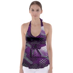 Evil Moon Dark Background With An Abstract Moonlit Landscape Babydoll Tankini Top