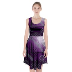 Evil Moon Dark Background With An Abstract Moonlit Landscape Racerback Midi Dress