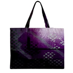 Evil Moon Dark Background With An Abstract Moonlit Landscape Medium Zipper Tote Bag
