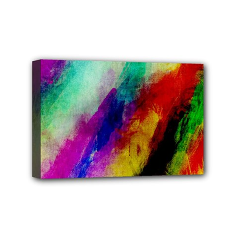 Colorful Abstract Paint Splats Background Mini Canvas 6  x 4