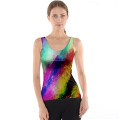 Colorful Abstract Paint Splats Background Tank Top