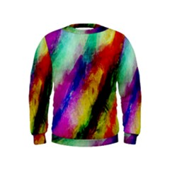 Colorful Abstract Paint Splats Background Kids  Sweatshirt
