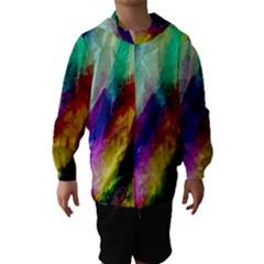Colorful Abstract Paint Splats Background Hooded Wind Breaker (kids)
