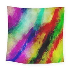 Colorful Abstract Paint Splats Background Square Tapestry (large)