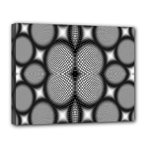 Mirror Of Black And White Fractal Texture Canvas 14  X 11