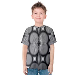 Mirror Of Black And White Fractal Texture Kids  Cotton Tee