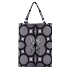 Mirror Of Black And White Fractal Texture Classic Tote Bag