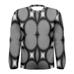 Mirror Of Black And White Fractal Texture Men s Long Sleeve Tee