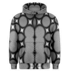 Mirror Of Black And White Fractal Texture Men s Zipper Hoodie