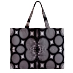 Mirror Of Black And White Fractal Texture Zipper Mini Tote Bag