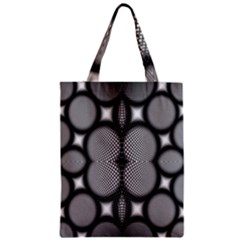 Mirror Of Black And White Fractal Texture Zipper Classic Tote Bag