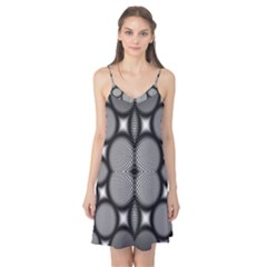 Mirror Of Black And White Fractal Texture Camis Nightgown