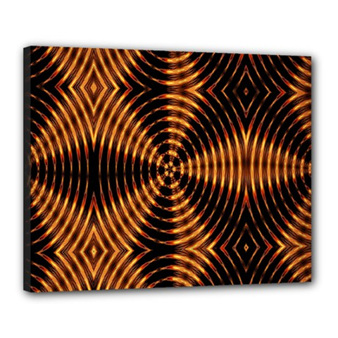 Fractal Pattern Of Fire Color Canvas 20  X 16