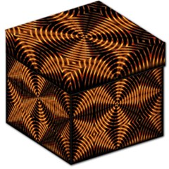 Fractal Pattern Of Fire Color Storage Stool 12