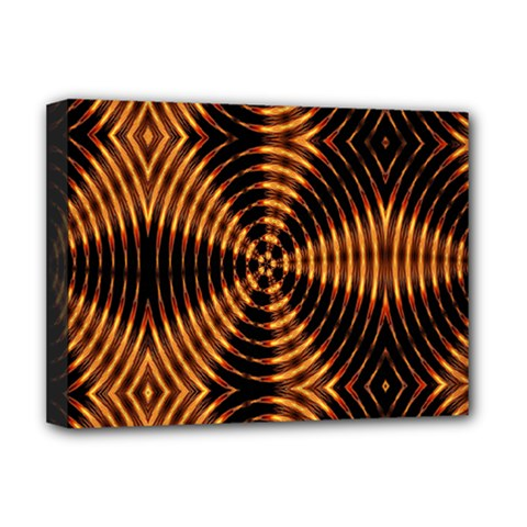 Fractal Pattern Of Fire Color Deluxe Canvas 16  x 12