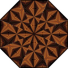 Fractal Pattern Of Fire Color Golf Umbrellas