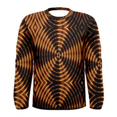 Fractal Pattern Of Fire Color Men s Long Sleeve Tee