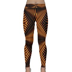 Fractal Pattern Of Fire Color Classic Yoga Leggings