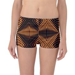 Fractal Pattern Of Fire Color Boyleg Bikini Bottoms