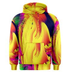 Stormy Yellow Wave Abstract Paintwork Men s Pullover Hoodie