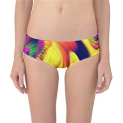 Stormy Yellow Wave Abstract Paintwork Classic Bikini Bottoms