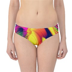 Stormy Yellow Wave Abstract Paintwork Hipster Bikini Bottoms