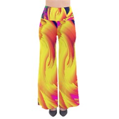 Stormy Yellow Wave Abstract Paintwork Pants