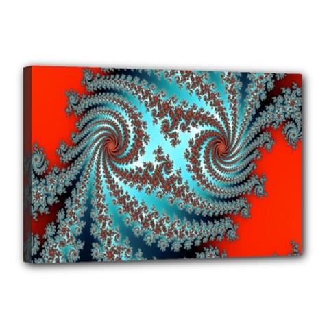 Digital Fractal Pattern Canvas 18  X 12