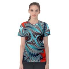Digital Fractal Pattern Women s Sport Mesh Tee