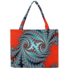 Digital Fractal Pattern Mini Tote Bag