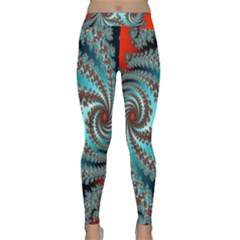 Digital Fractal Pattern Classic Yoga Leggings