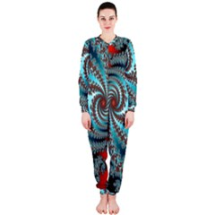 Digital Fractal Pattern Onepiece Jumpsuit (ladies)