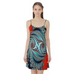 Digital Fractal Pattern Satin Night Slip